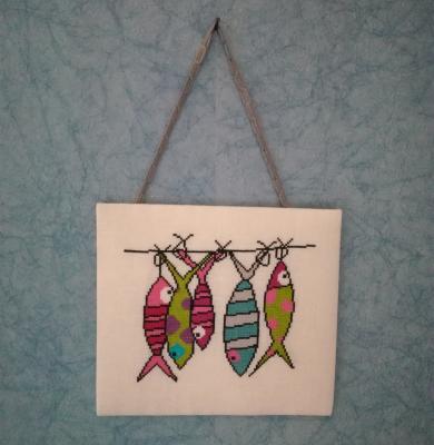 Pancarte poissons colorées