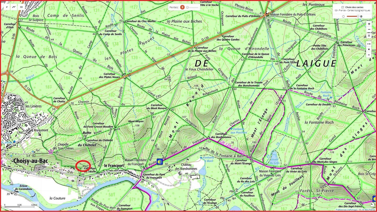 carrefour_Chemin du Fau Bidaud_Sentier (parcelle 194)