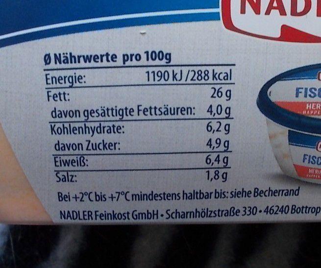 Nadler Fischglück Hering & Garnele in Gemüse-Creme