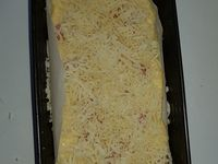 Cake au fromage et saucisse knacki