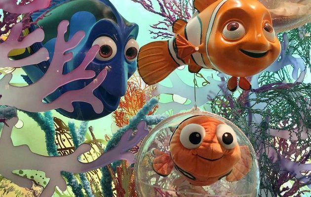 Personnages Disney en vitrine
