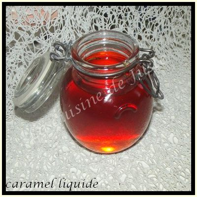 Caramel liquide facon Tupperware
