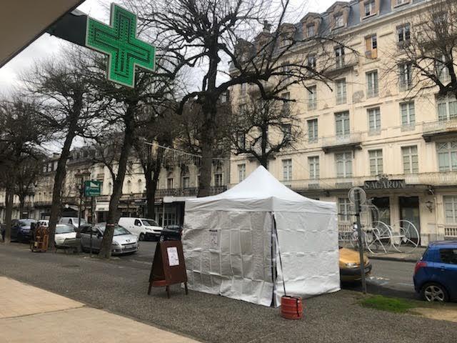 Luchon : campagne de test COVID antigénique sur l'allée d'Etigny