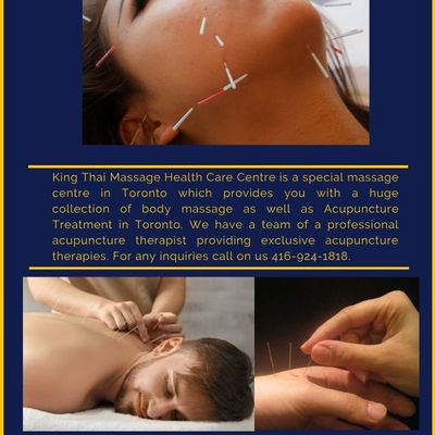 Acupuncture Treatment in Toronto by skilled hands  | King Thai Massage