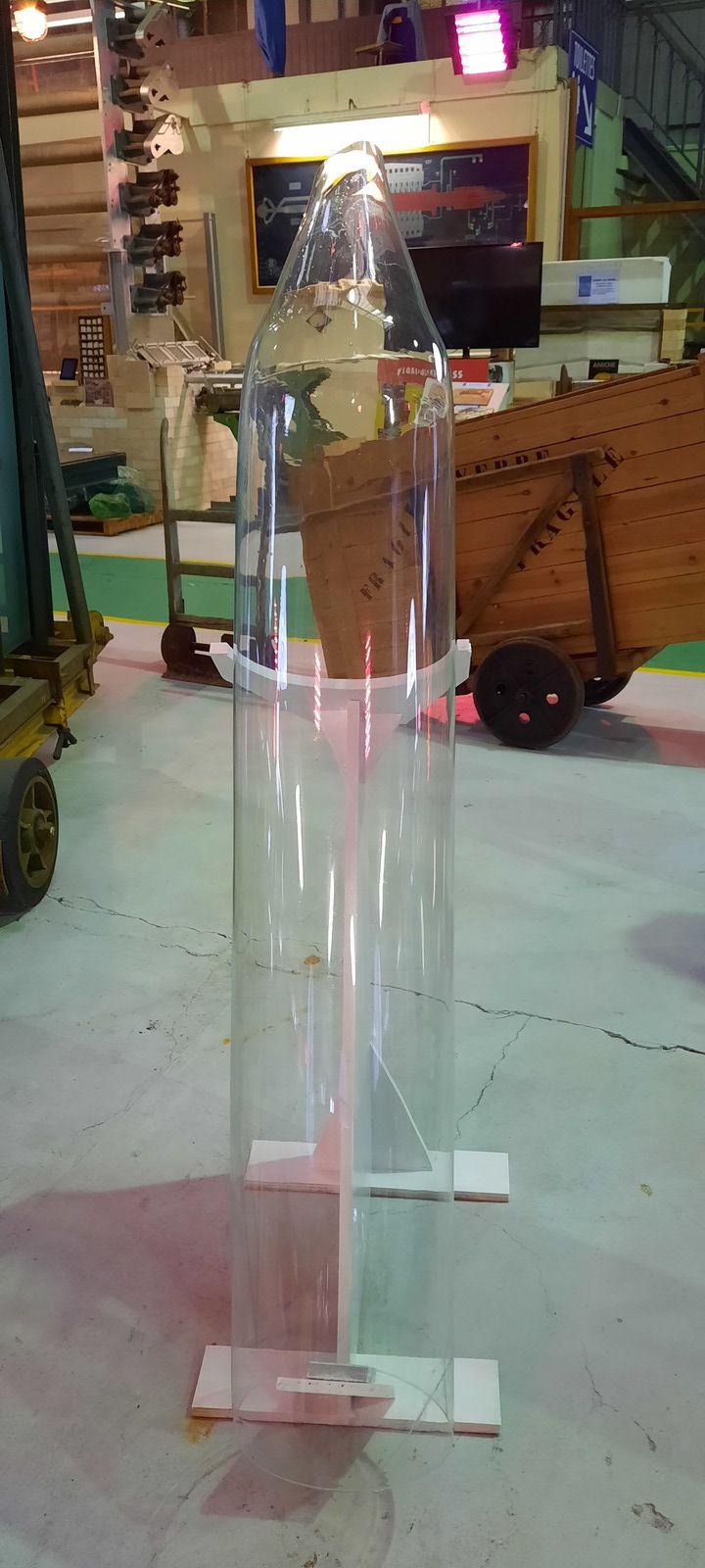 Récupération d'un grand manchon pour verre à vitrer ou à vitres