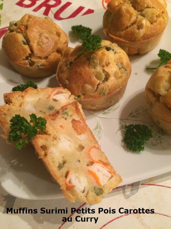 Muffins Surimi Petits Pois Carottes au Curry
