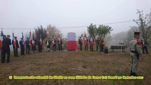 Inauguration du  mémorial  des  Harkis  au  camp  Militaire  du  Larzac  (12) Samedi  30  Septembre  2017