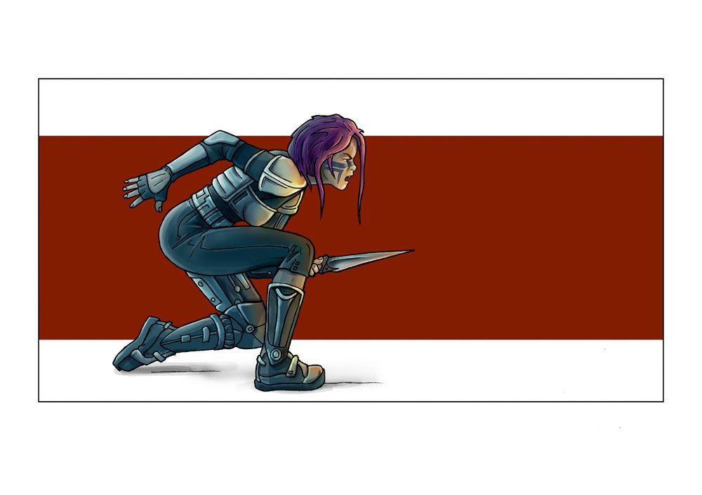colorisation des illustrations de SAXO par NOG