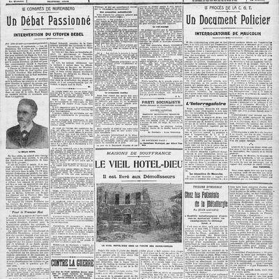 17.09.1908. Rosa Luxemburg, la défense du 1er mai au Congrès de Nuremberg. Extrait d'un article de l'Humanité.