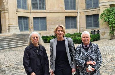 Anne Démians, Dominique Issermann et Anne Poirier à l'Académie des beaux-arts. Annie Leibovitz, Prix de Photographie de l'Académie des beaux-arts - William Klein