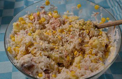 Salade riz thon au cookeo ou sans