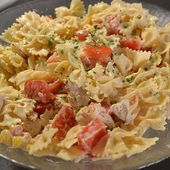 Salade farfalles poulet recette cookeo |