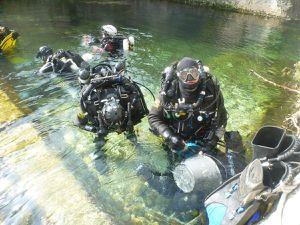 Plongée au Goul de la Tannerie. Bourg St Andéol