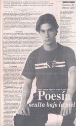 Poesía oculta bajo la piel. Sergio Esteban Vélez ya no es el Niño Poeta