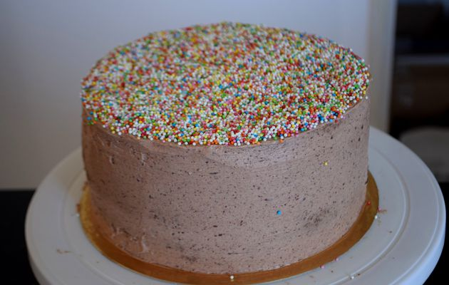 Gâteau d'Anniversaire au Chocolat, Chantilly Mascarpone & Chocolat