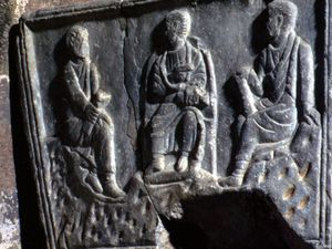SARCOPHAGE A PERSONNAGES