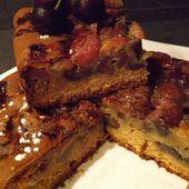 Moelleux aux cerises , amandes et Amaretto allégé
