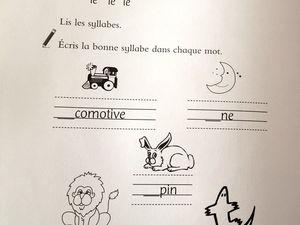 exercices d'apprentissage #maternelle , #apprendre #sons et #lettres , cahier, #chatfuté edition #mandarine sur #charlotteblabla blog