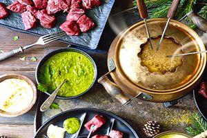 La fondue bourguignonne et ses sauces