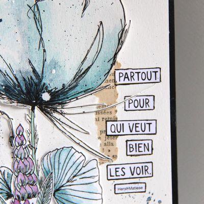 Page d'Art Journal_Il y a des fleurs partout...