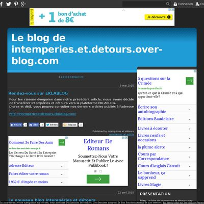 Le blog de intemperies.et.detours.over-blog.com