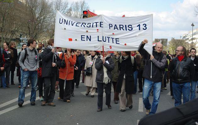 """Université """"JLS"""" (ex-Paris 13) en manif le 24 mars"""