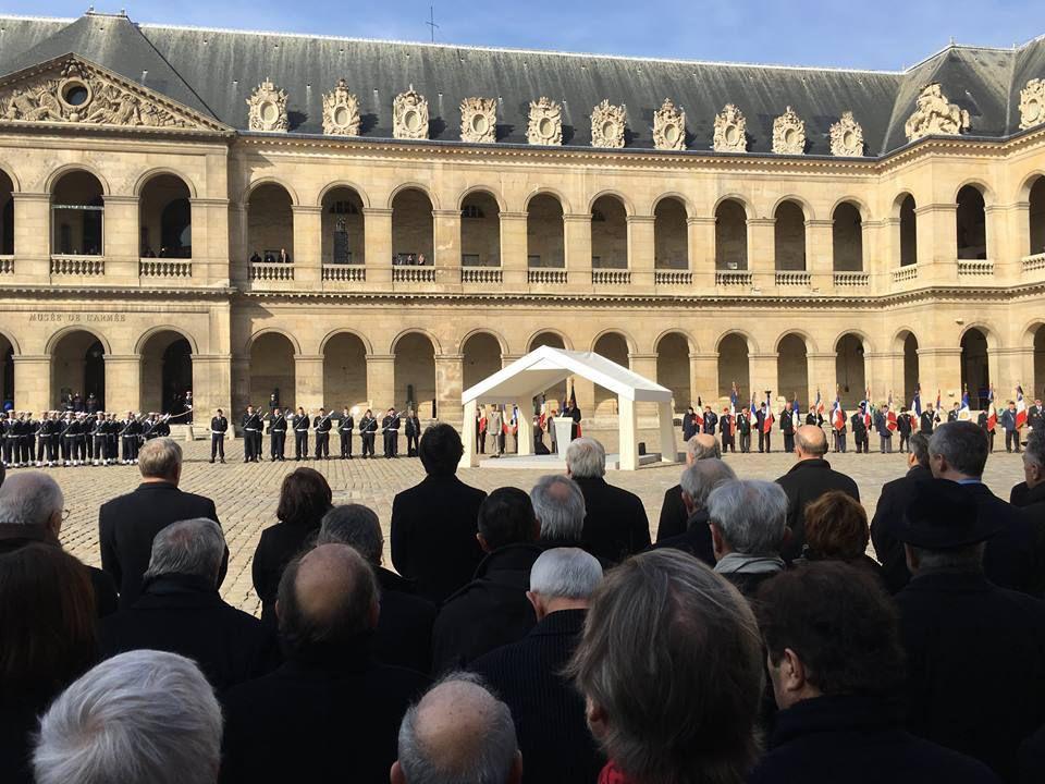 Hommage national à Yves Guéna aux Invalides: Claude Bartos représentait l'UGF