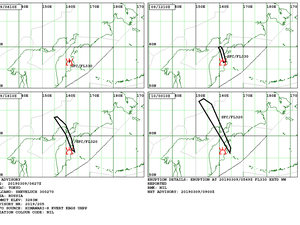 Sheveluch - volcanic ash advisory for 09 and 10.03.2019 - Doc. VAAC Tokyo - one click to enlarge
