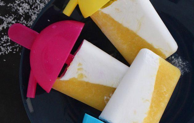 Popsicles Mangue- Noix de coco (sans sorbetière).