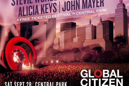 On September 28th, 60,000 people are joining forces in NYC for the Global Citizen Festival. Together we can make a change!!!!