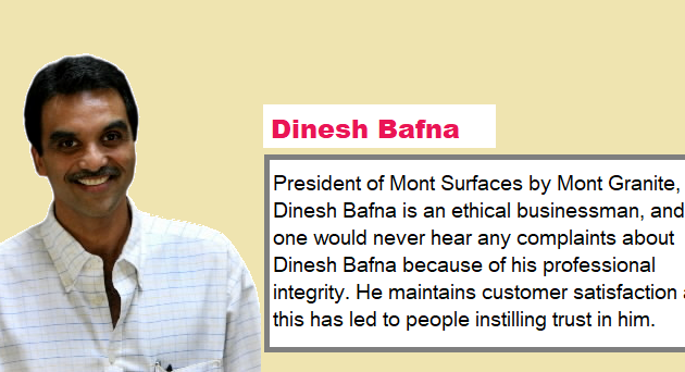 Dinesh Bafna's Background Defines His Today's Success
