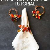 Jeweled Fall Napkin Ring Tutorial for Thanksgiving