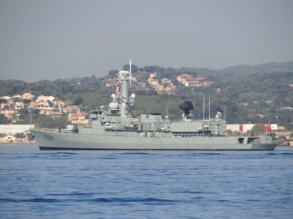 DON . FRANCISCO DE ALMEIDA  , F334 , frégate de la marine portugaise arrivant à Toulon le 26 septembre 2017