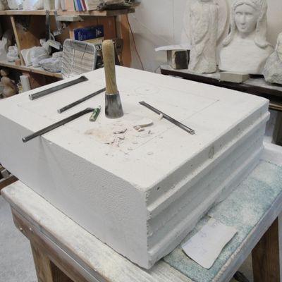 Tadelakt et réalisation d'une vasque