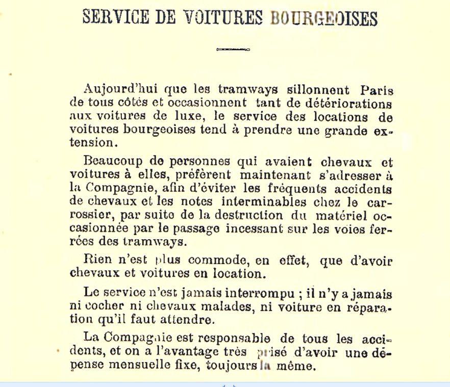 Extrait tarif de 1881 de la CGV