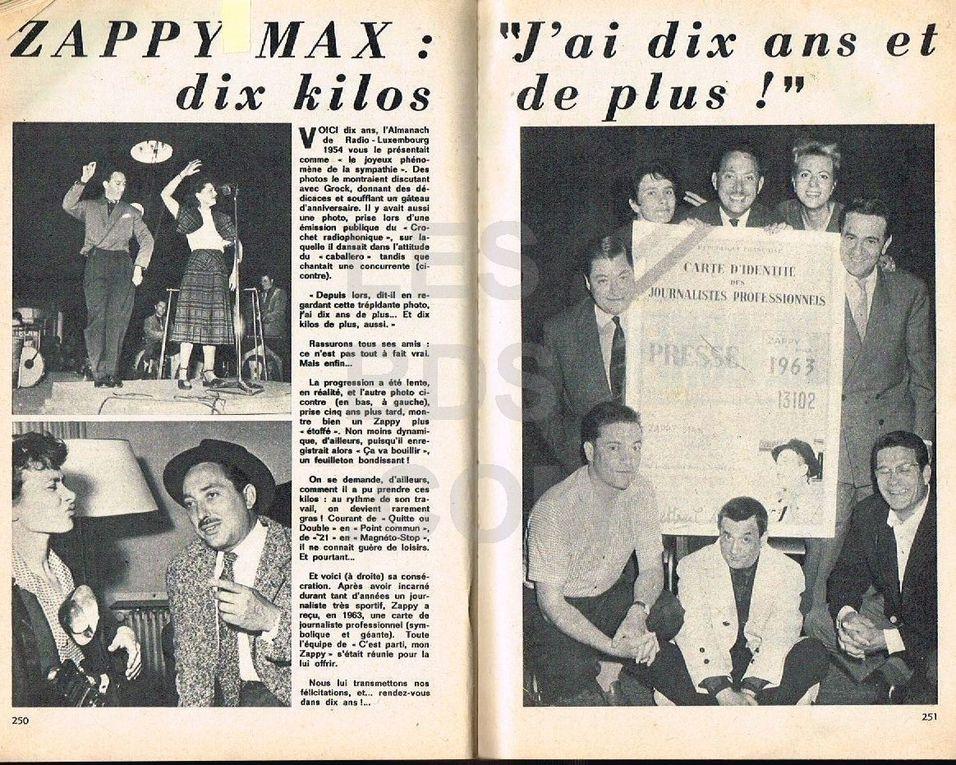 """ZAPPY MAX EST PARTI JOUER A """"QUITTE OU DOUBLE"""" AVEC LE BON DIEU."""