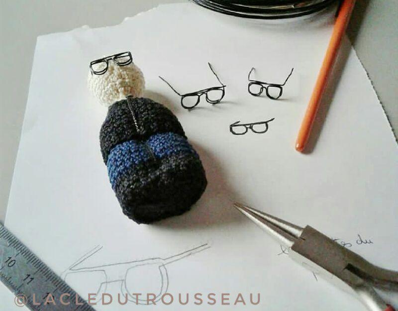 Crochet doll, casa de papel, miniidole, french crochet, netflix, le professeur