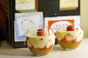 Panna Cotta rhubarbe et fraise