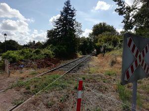 Ancienne voie ferrée récupérée pour le train touristique de la Puisaye