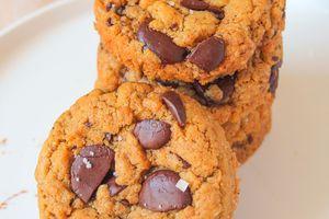Cookies au Beurre de Cacahuète & Chocolat  {Sans Gluten}