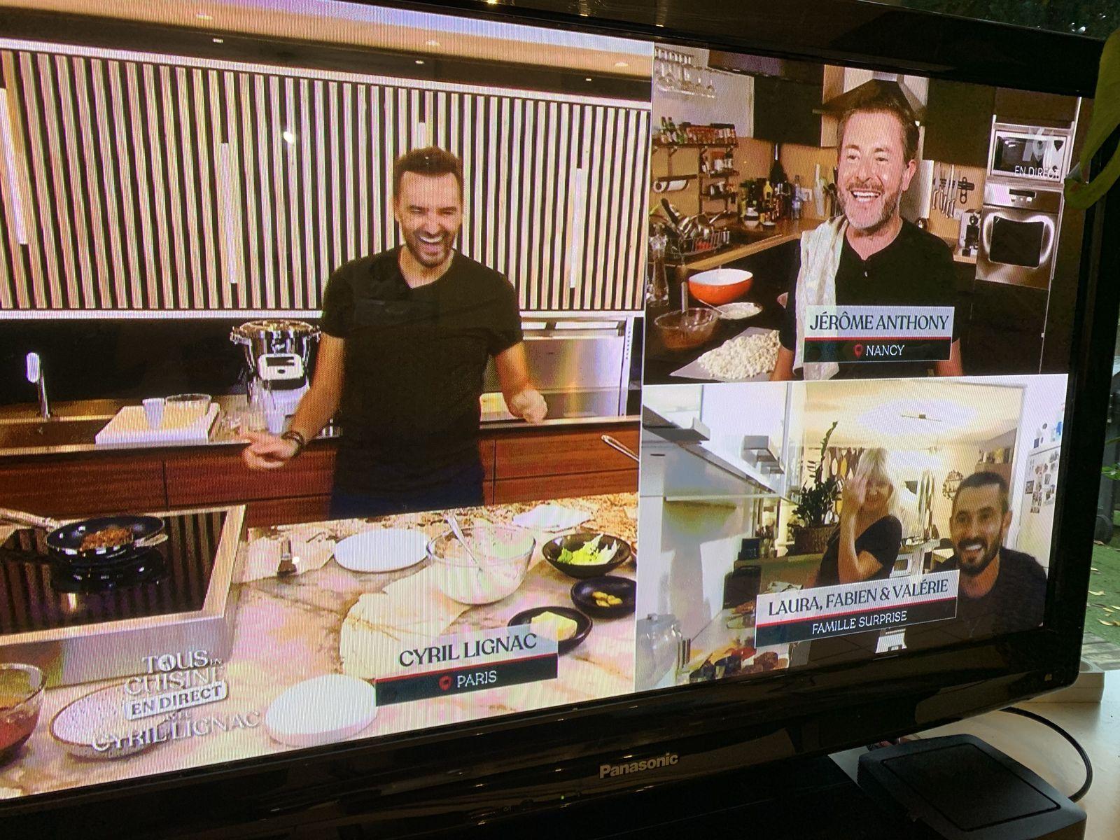 j'ai participé à l'émission tous en cuisine avec Cyril LIGNAC