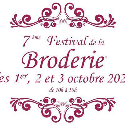 LE FESTIVAL DE LA BRODERIE OUVRE SES PORTES DANS 5 JOURS !