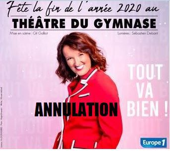📌 Anne Roumanoff fête la fin de l'année 2020 au théâtre du Gymnase !