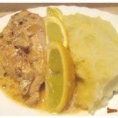 Poulet crémeux ail-citron - www.sucreetepices.com