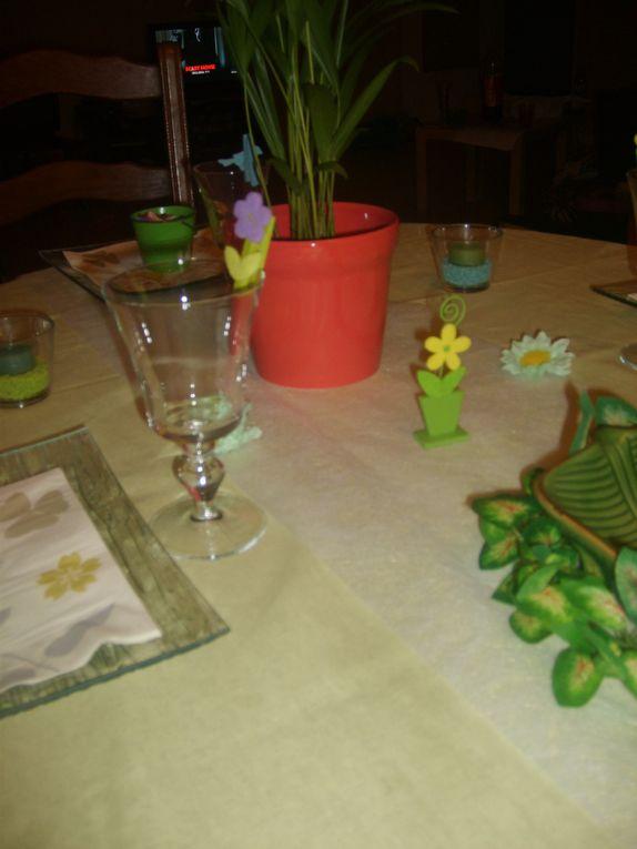 La table d'anniversaire des 4 ans de Célia et des 8 ans de Théophile ...