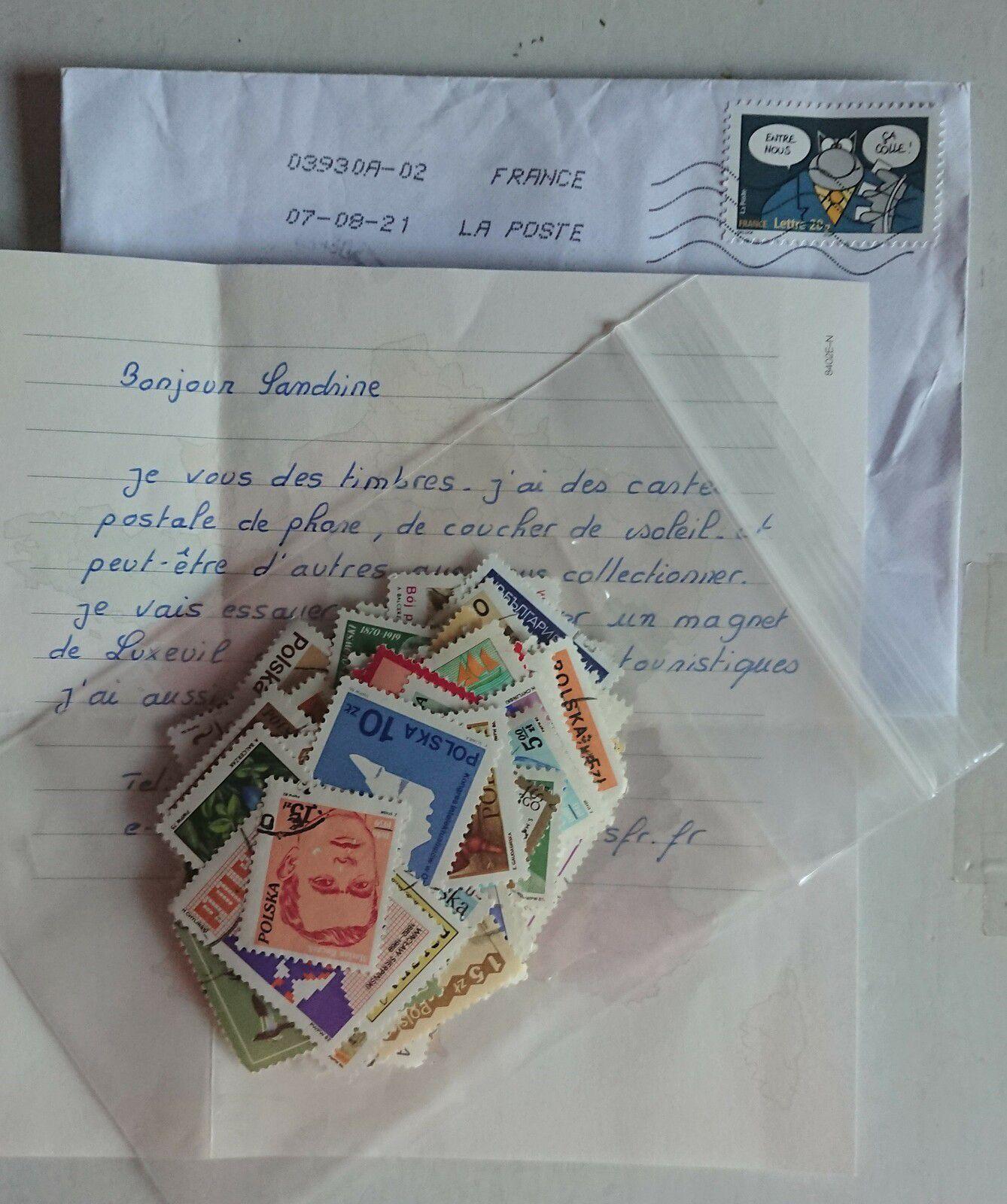 Une boîte au lettres bien remplie cette semaine par des Swaps privés