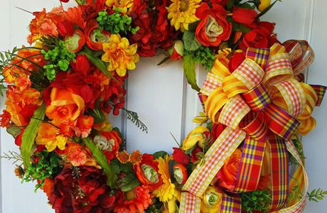 Spring Wreath Red Or