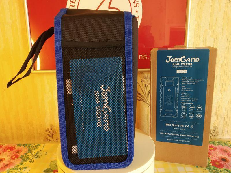 unboxing de la batterie externe Jump Starter multifonctions - JomGand JW401 @ Tests et Bons Plans