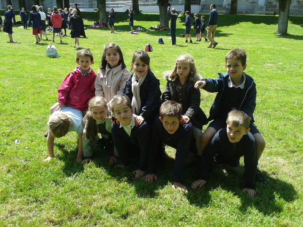Pélerinage de l'école à Pontmain