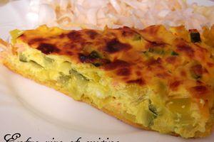 Quiche Saumon, Légumes, Fromage blanc et Boursin  {sur pâte brisée légère et express au Curcuma}